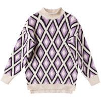 少女半高领打底衫2018冬季新款学生套头宽松毛衣初中生韩版针织衫