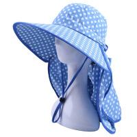 女春夏大沿防晒帽防紫外线帽骑车遮脸帽护颈太阳帽电动车遮阳帽子