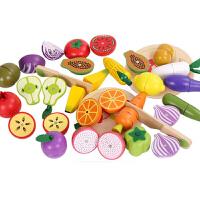 儿童切水果玩具男孩女孩宝宝木头制磁性蔬菜切切乐套装厨房过家家 水果+组合