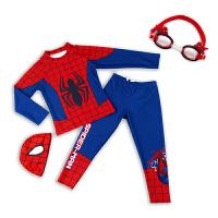�和�泳衣蜘蛛�b男童�L袖分�w防�袼俑砷L�游泳衣小童�厝�泳�套�b