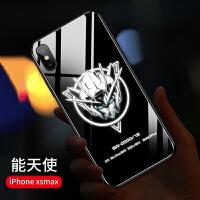 20190601115605510机甲苹果x手机壳iPhonexsmax男发光玻璃7全包6sp防摔7p来电闪6抖音高达