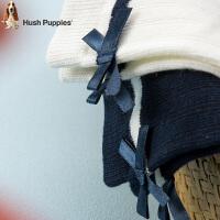 【4折价:23.6元】暇步士童装女童袜子舒适透气甜美蝴蝶结袜子儿童袜子