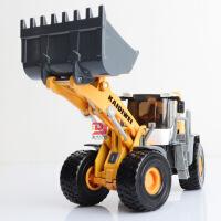 凯迪威全合金工程铲车模型1:50滑行儿童摆设收藏玩具