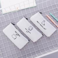 博学。韩国文具 创意果胶手绘动物笔袋 小清新可爱大容量 学生学习用品