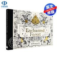 秘密花园系列魔法森林Enchanted Forest: 20 Postcards明信片贺卡