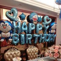 生日气球派对用品周岁百天舞台装饰背景主题套餐 叮当猫套餐