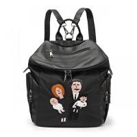 妈咪包双肩包新款多功能大容量孕妇宝妈包外出背包时尚母婴包 一家人妈咪包