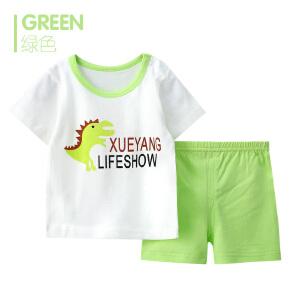 歌歌宝贝 夏季新款套装 婴儿短袖套装 儿童短袖套装