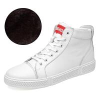 新款休闲高帮潮流男鞋牛皮板鞋英伦加绒马丁靴