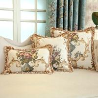 欧式沙发抱枕靠垫靠背长方形靠背家用抱枕套不含芯腰枕车椅正方形