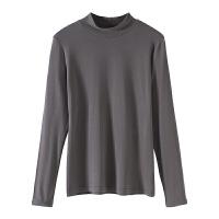 半高领打底衫秋冬新款加绒秋衣黑色秋季上衣百搭修身长袖T恤女