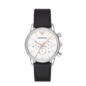 Armani阿玛尼正品经典个性皮带男士手表休闲简约防水石英表AR2075
