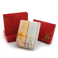 中国结毛巾礼盒套装2条装回礼福利会议定制婚庆生日礼品