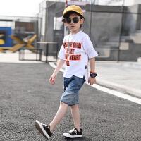 男童夏装新款套装短袖纯棉T恤韩版夏季童装儿童运动两件套潮