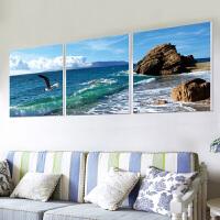 客厅装饰画沙发背景沙发背景墙装饰画三联组合花卉艺术画客厅墙体软装挂无框画