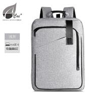 男士商务双肩包 出差旅行大容量背包 5.6寸电脑包 休闲简约书包