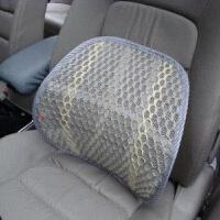 汽车用靠背腰垫护腰单座车用司机开车腰部靠背垫舒适靠垫腰靠 汽车用品 浅灰色 冰丝汽车腰垫X2(一对)