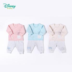 【卷后139元3件】迪士尼Disney童装婴儿衣服 秋季新款迪斯尼女童内衣套装纯棉开衫新生儿绑带家居服183T810