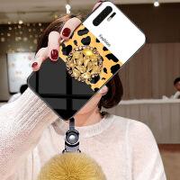 华为p30pro手机壳p3opro奢华豹纹华为保护套hw玻璃华韦q30p全包边