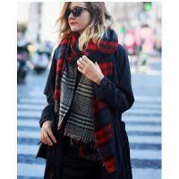 安以轩同款千鸟格子两用双面围巾仿羊绒加大披肩加厚保暖