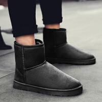 冬季棉鞋加绒保暖雪地靴男鞋厚底防滑防水高帮板鞋学生高腰面包鞋srr