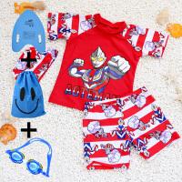 速干奥特曼儿童泳衣男童宝宝中大童泳装套装防晒可爱分体温泉 X