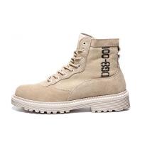 №【2019新款】冬天年轻人穿的 英伦马丁靴男高帮男士真皮工装靴子内增高男女皮靴
