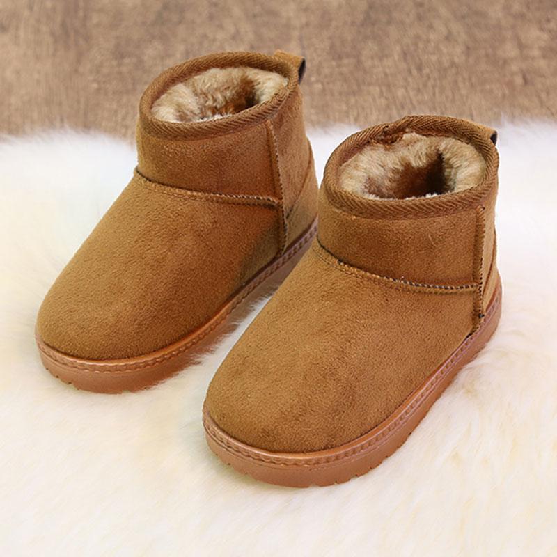 儿童雪地靴男童防滑保暖宝宝短靴子女童2018冬季新款加绒童鞋