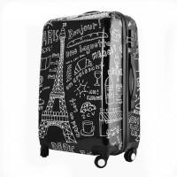 拉杆箱万向轮学生旅行箱铁塔涂鸦20/24/28寸行李箱包