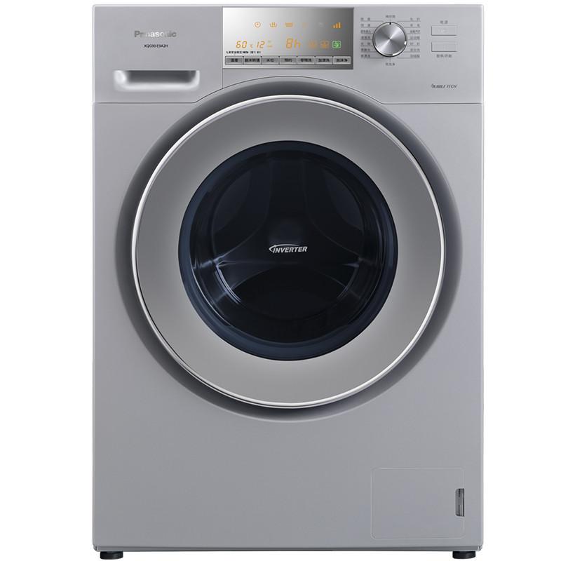 松下(Panasonic)XQG90-E9A2H 9公斤全自动滚筒洗衣机大容量变频 银色 变频技术,智能操控,高温煮洗