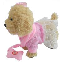 儿童电动玩具狗狗毛绒泰迪会走会叫唱歌会走路小狗带牵绳宠物