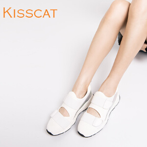 接吻猫秋运动鞋女透气网鞋女低帮舒适女鞋DA76590-50