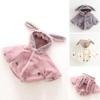 女童斗篷秋冬装新款童装儿童兔耳朵皮草披风宝宝加厚披肩外套