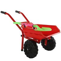 大号独轮双轮儿童玩具小推车男女小孩沙滩推土户外手推玩具车