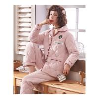 情侣睡衣女秋冬季款加厚法兰绒长袖夹棉男士套装女士珊瑚绒家居服