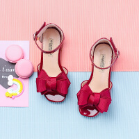 女童学生蝴蝶结高跟鞋韩版儿童小女孩夏季公主鞋