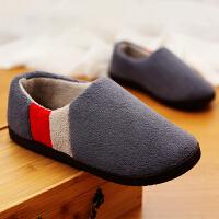 棉拖鞋男大码冬季包跟托鞋居家家用棉拖男士保暖室内防滑家居拖鞋