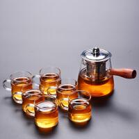 耐热玻璃茶壶不锈钢过滤茶具套装花草茶壶茶杯泡煮茶壶冲茶器