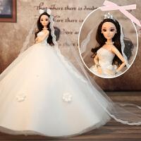 会说话的婚纱娃娃礼盒大厘米仿真洋娃娃玩具女孩公主儿童生日礼物 Z款 珍儿 白色棕发 收藏加购送3件小礼服 无音乐款