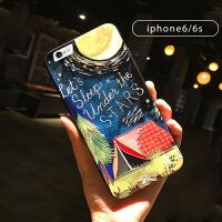 苹果iPhone6手机壳浮雕挂绳指环6s个性创意软黑潮7plus情侣男女8全包防摔iphone8pl