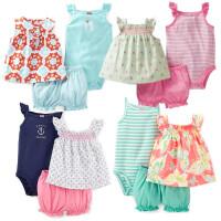 童装女宝宝夏季裙子婴儿草莓T恤哈衣吊带连体衣灯笼短裤套装