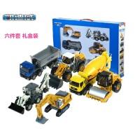 合金工程车套装 挖土机工程车玩具模型挖机模