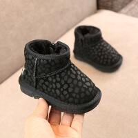 小儿童婴儿雪地靴2018冬款韩版豹纹棉靴男女宝宝加厚保暖短靴