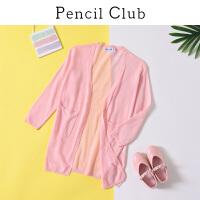 【2件3折:62.7】铅笔俱乐部童装2020夏新款女童针织开衫中大童空调衫儿童上衣罩衣