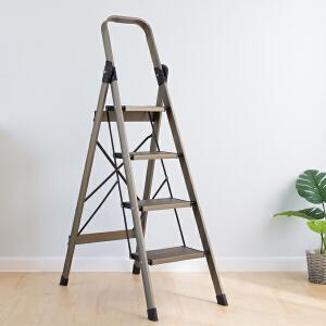 【领券】ORZ 铁管人字梯 家用折叠移动梯踏板梯梯子凳子两用室内梯