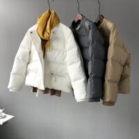 冬季羽绒棉衣女短款韩版原宿bf风宽松面包服学生棉袄外套