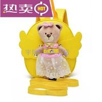 新款韩版时尚可爱小熊书包1-2-3岁宝宝防走失包包个性卡通迷你双肩男女儿童背包