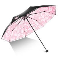 伞遮阳伞防晒防紫外线女太阳伞女神黑胶小清新晴雨伞折叠两用