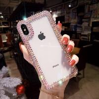 苹果6s手机壳女款iphone7plus新款全包硅胶软边水钻边框8网红X潮