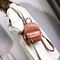 2017新款潮女士双肩包韩版小巧百搭书包背包时尚校园简约软皮包包